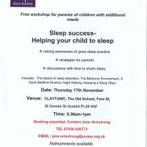 Sleep success – free workshop