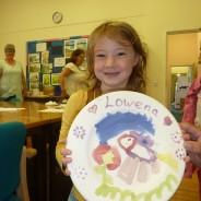 Plate painting workshop.