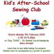 Children's sewing club