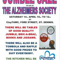 Jumble sale in aid of Alzheimer's Society