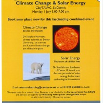 Climate change & solar energy