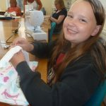 Busy sewing away at the Loose Threads Group